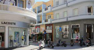Rhodos stad shoppinggata